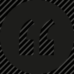 circle, quote icon