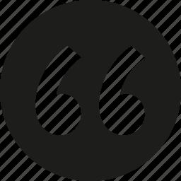 circle, quote, round icon