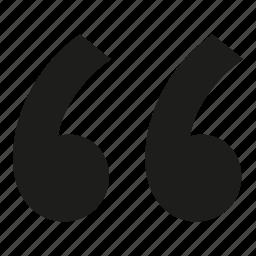 quote, round icon