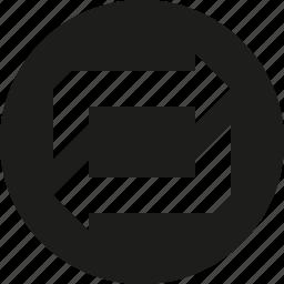 circle, retweet icon
