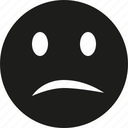 sad, smile icon