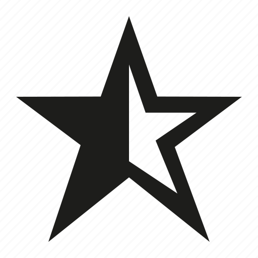half, star icon