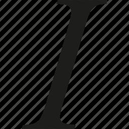 italic, text icon