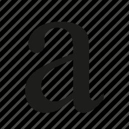 lowercase, text icon