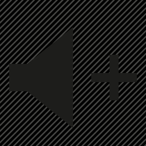plus, volume icon
