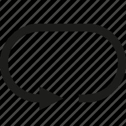 arrow, circuit icon