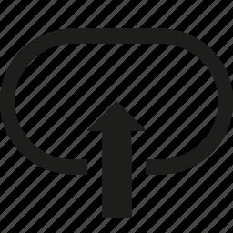 arrow, circuit, up icon
