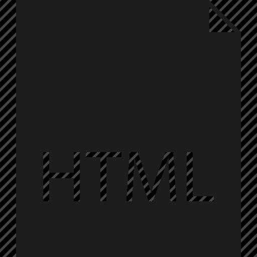 file, html icon