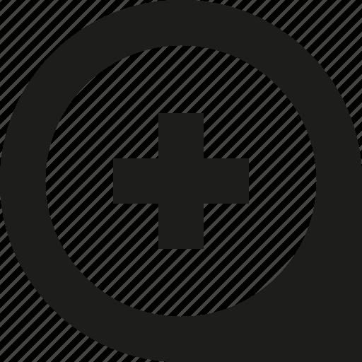 add, location, pin icon