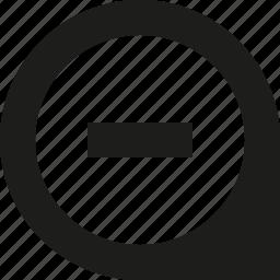 location, pin, remove icon
