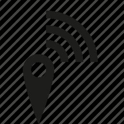 pin, wifi icon