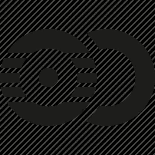 circle, double, rec icon