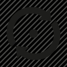circle, refresh icon