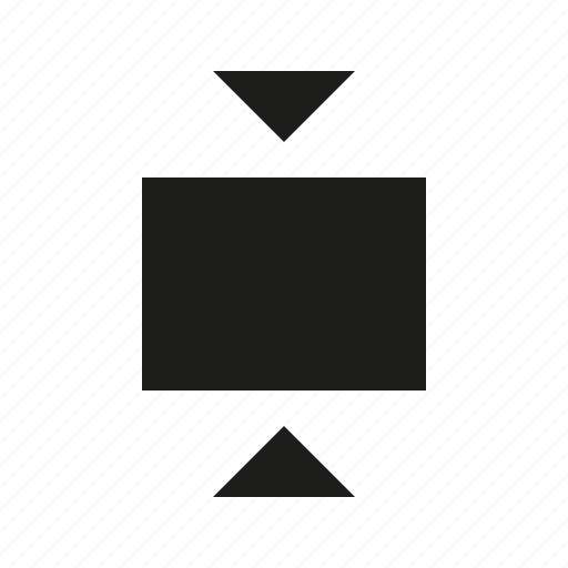 contrat, vertical, viewport icon
