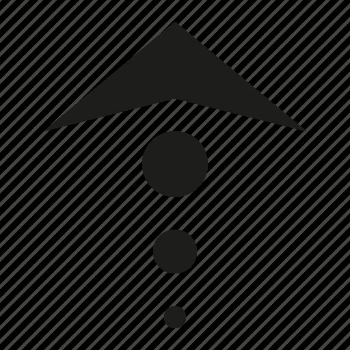 arrow, ball, up icon