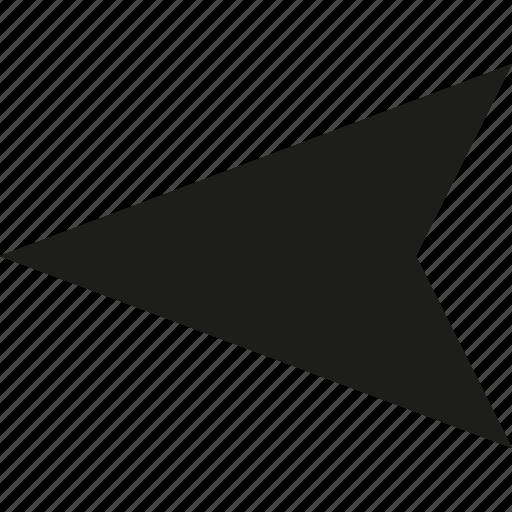 arrow, left, location icon