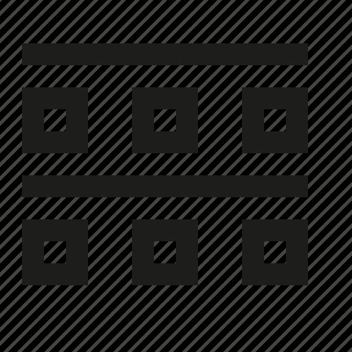 blocks, line icon