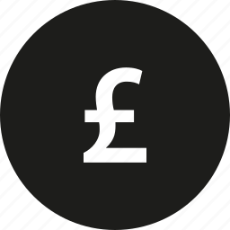 circle, coin, pounds icon