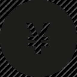 circle, coin, yen icon