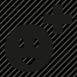 add, smile icon