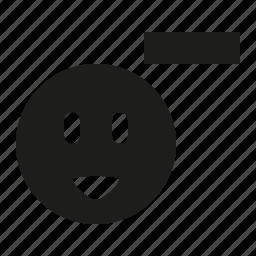 remove, smile icon