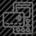 merchant, online, pay, qr icon