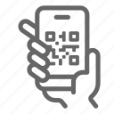mobile, payment, phone, qr, smartphone icon