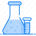 conical flask, erlenmeyer flask, experiment, flask chemistry, laboratory flask icon