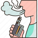 vaping, electric, cigarette, smoke, nicotine