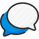 box, bubble, chat, dialogue, forum, quote icon