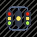 lamp, light, race, racing, start icon