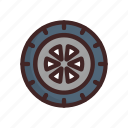 race, racing, sport, tire, wheels icon