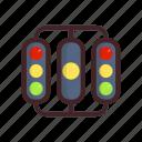 finish, lamp, light, racing, sign, start icon