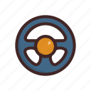 car, race, steering, vehicle, wheel icon