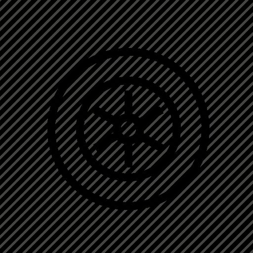 Auto, automobile, car, tire, wheel icon - Download on Iconfinder