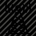 business, computer, music, radio, retro, silhouette, tower icon
