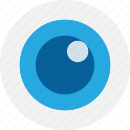 blue, eye, look, search, view icon