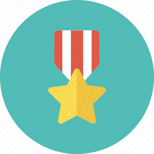 first, medal, prize, star, winner icon