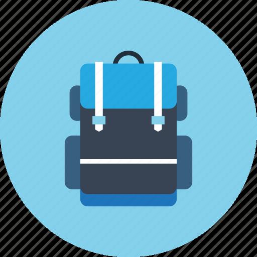 backpack, backpacker, hiking, travel, trekking icon