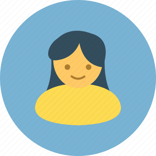avatar, female, profile, user icon