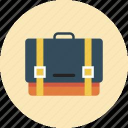 bag, business, hand, man, portfolio icon