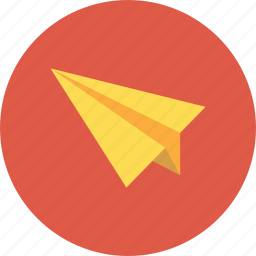 aircraft, aireplane, email, letter, send icon