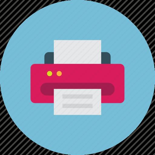 device, fax, office, print, printer icon