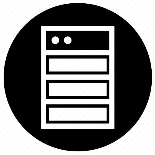 hardware, label, raid, round icon