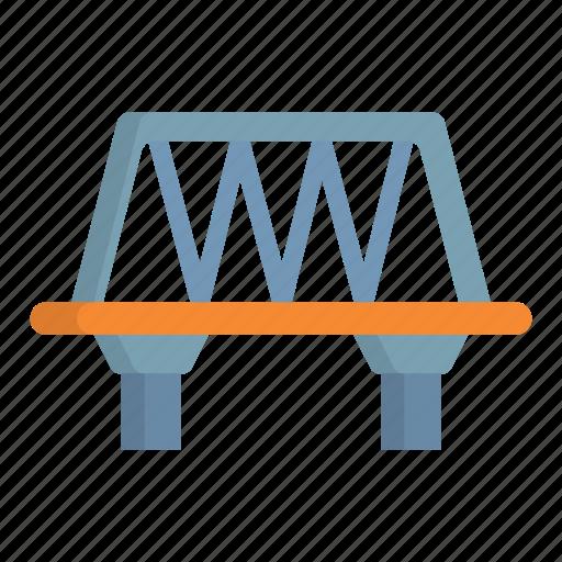 bridge, railway, train, transport, transportation icon