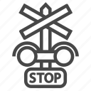 light, railroad, railway, signal, train icon