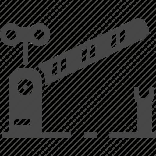 gate, railroad, railway, train icon