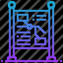 board, information, map, navigation, post