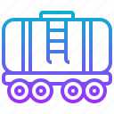 car, gas, liquid, railroad, tank, train icon