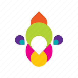 abstract, colorful, rainbow icon